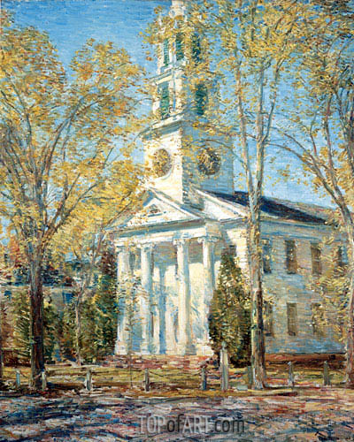 Church at Old Lyme, 1906 | Hassam | Painting Reproduction