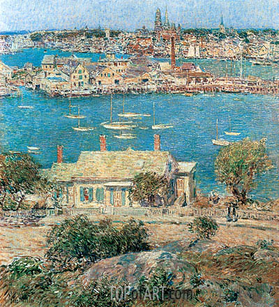 Gloucester Harbor, 1899 | Hassam | Painting Reproduction