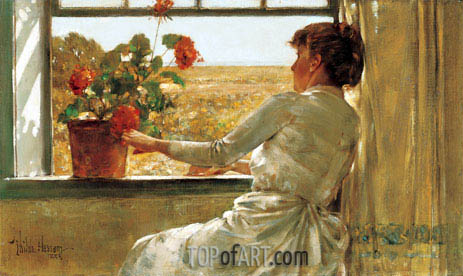 Summer Evening, 1886 | Hassam | Painting Reproduction