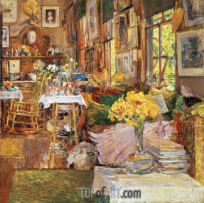 The Room of Flowers, 1894 | Hassam| Painting Reproduction