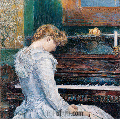 The Sonata, 1893 | Hassam| Painting Reproduction