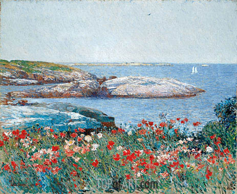 Poppies, Isles of Shoals, 1891 | Hassam| Painting Reproduction