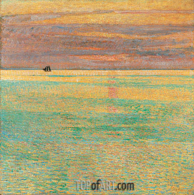 Hassam | Sunset at Sea, 1911