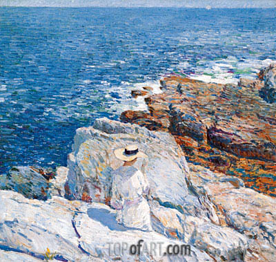 The South Ledges, Appledore, 1913 | Hassam | Gemälde Reproduktion