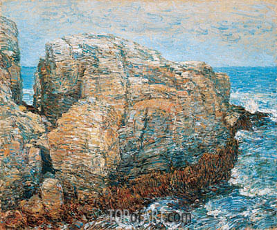 Sylph's Rock, Appledore, 1907 | Hassam| Painting Reproduction