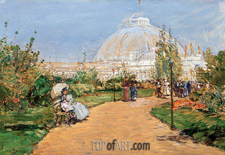 Horticulture Building, World's Columbian Exposition, Chicago, 1983 | Hassam| Painting Reproduction