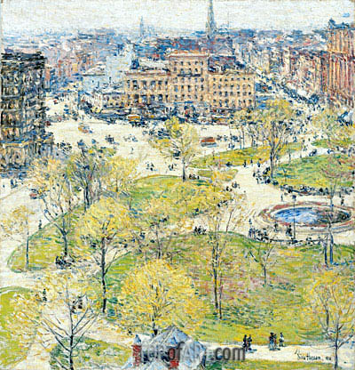 Union Square in Spring, 1896 | Hassam | Gemälde Reproduktion