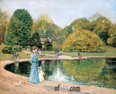 Central Park, 1892 | Hassam| Painting Reproduction