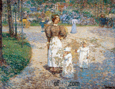 Spring in Central Park (Springtime), 1898 | Hassam | Painting Reproduction