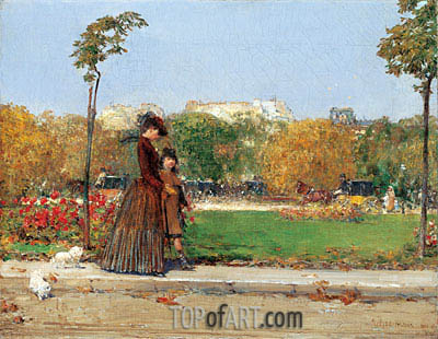 In the Park, 1889 | Hassam | Gemälde Reproduktion