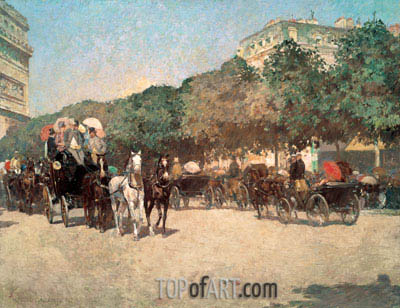 Grand Prix Day, 1887 | Hassam | Painting Reproduction