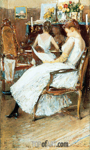 Hassam | Mrs. Hassam and Her Sister, 1889