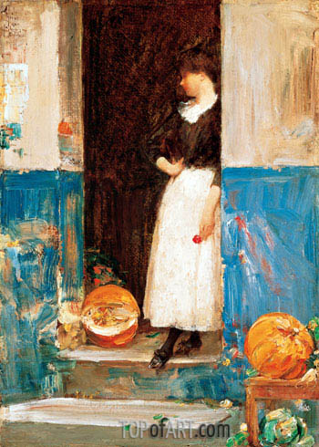 La Fruitiere, c.1888/89 | Hassam | Painting Reproduction
