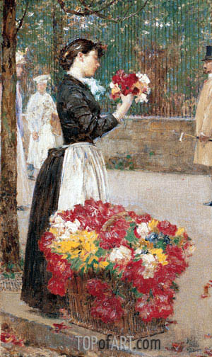 Hassam | Flower Girl, c.1887/89