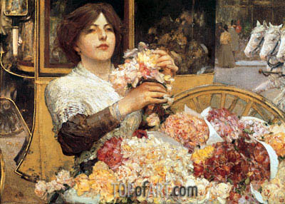 The Rose Girl, c.1888 | Hassam| Painting Reproduction