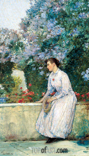 In the Garden, c.1888/89 | Hassam| Painting Reproduction