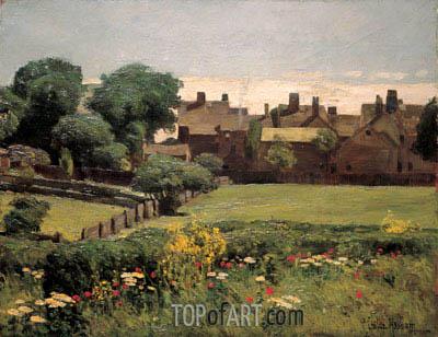 Hassam | Village Scene, c.1883/85