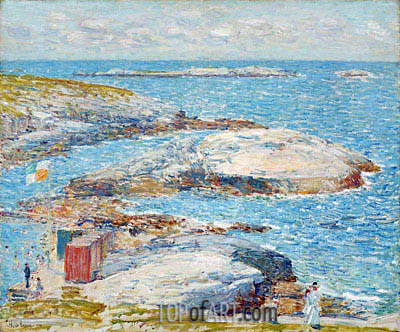 Bathing Pool, Appledore, 1907 | Hassam| Painting Reproduction