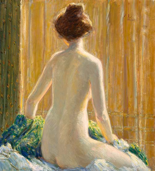 Nude Seated, 1912 | Hassam | Gemälde Reproduktion