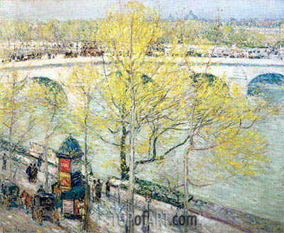 Pont Royal, Paris, 1897 | Hassam| Gemälde Reproduktion
