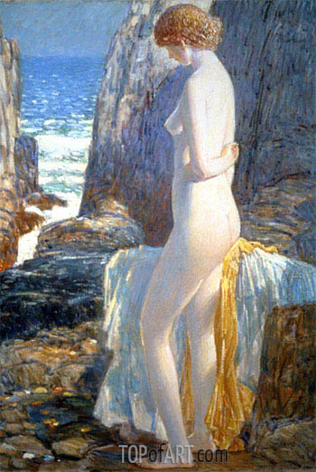 Hassam | Nude, Appledore, Isle of Shoals, 1913