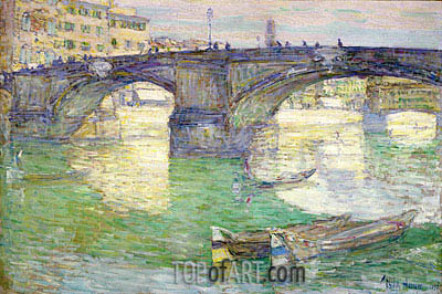Ponte Santa Trinita, 1897 | Hassam | Painting Reproduction