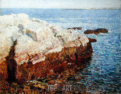 Cliff Rock, Appledore, 1903 | Hassam| Painting Reproduction
