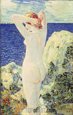 Hassam | The Bather, 1915