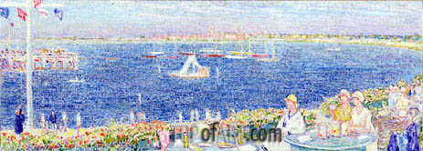 Afternoon, Devon Yacht Club, 1930 | Hassam | Painting Reproduction