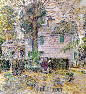Hassam | Indian Summer in Colonial Days, 1899