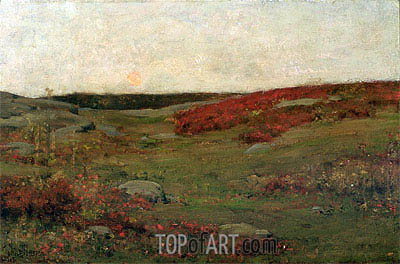 Sunrise, Autumn, c.1885 | Hassam| Painting Reproduction