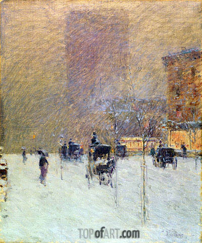 Winter Afternoon in New York, 1900 | Hassam | Gemälde Reproduktion