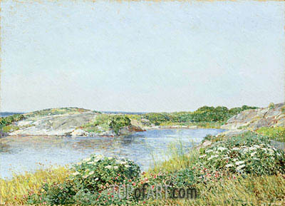 The Little Pond, Appledore, 1890 | Hassam | Gemälde Reproduktion