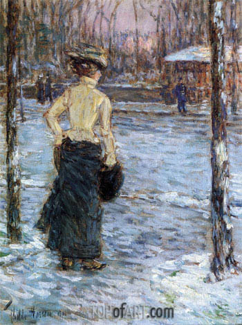 Winter, Central Park, 1901 | Hassam | Painting Reproduction