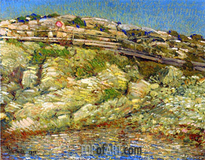 Walk Around the Island, 1890 | Hassam | Painting Reproduction