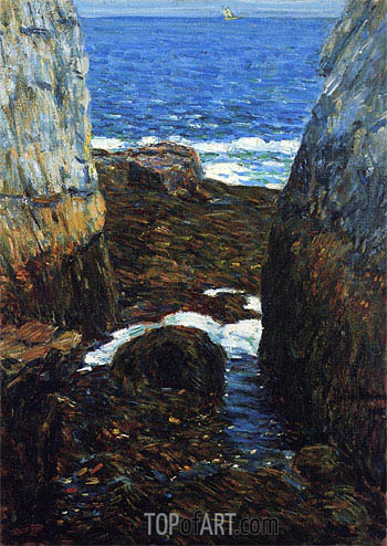 The North Gorge, Appledore, Isles of Shoals, 1912 | Hassam | Painting Reproduction