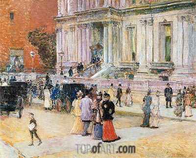 The Manhattan Club, c.1891 | Hassam | Painting Reproduction