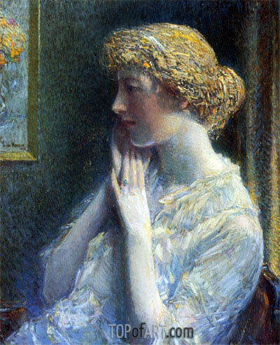 The Ash Blond, 1918 | Hassam | Gemälde Reproduktion