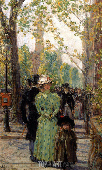 Sunday Morning, undated | Hassam | Painting Reproduction