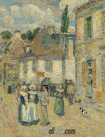 Pont-Aven, 1897 | Hassam | Painting Reproduction