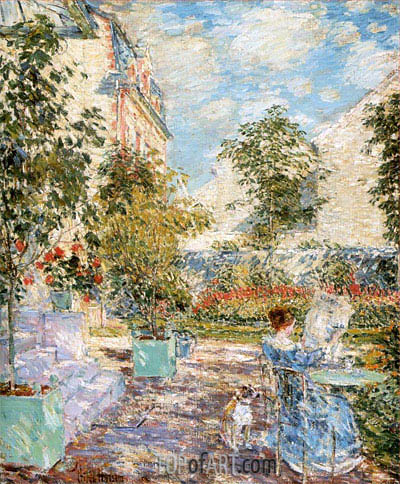 In a French Garden, 1897 | Hassam | Gemälde Reproduktion