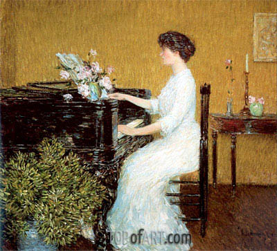 Hassam | At the Piano, 1908
