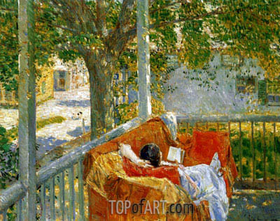 Couch on the Porch, Cos Cob,  | Hassam | Gemälde Reproduktion
