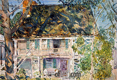The Brush House, 1916 | Hassam | Painting Reproduction