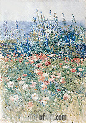 Flower Garden, Isles of Shoals, 1893 | Hassam| Painting Reproduction