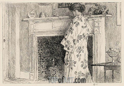 The White Kimono, 1915 | Hassam| Painting Reproduction