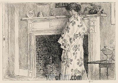 Hassam | The White Kimono, 1915