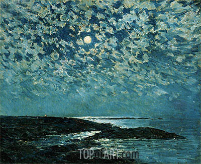 Hassam | Moonlight, Isle of Shoals, 1892