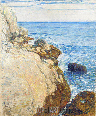 The East Headland, Appledore - Isles of Shoals, 1908 | Hassam| Painting Reproduction
