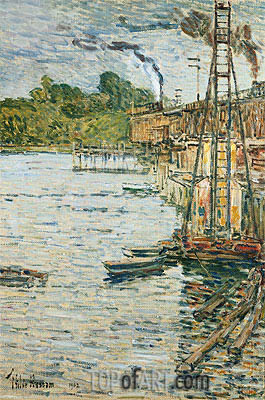 The Mill Pond, Cos Cob, Connecticut, 1902 | Hassam | Painting Reproduction